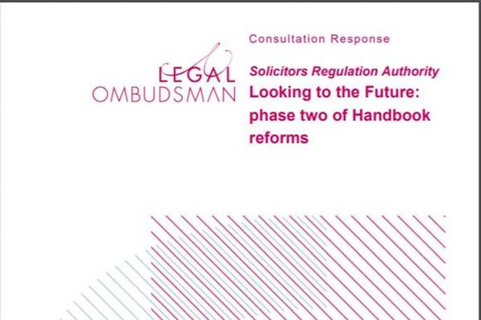 Legal Ombudsman responds to SRA Handbook reforms consultation