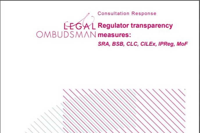 Legal Ombudsman responds to regulators' transparency consultations