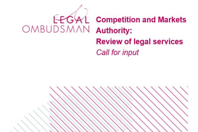 CMA: OLC response to the review of legal services