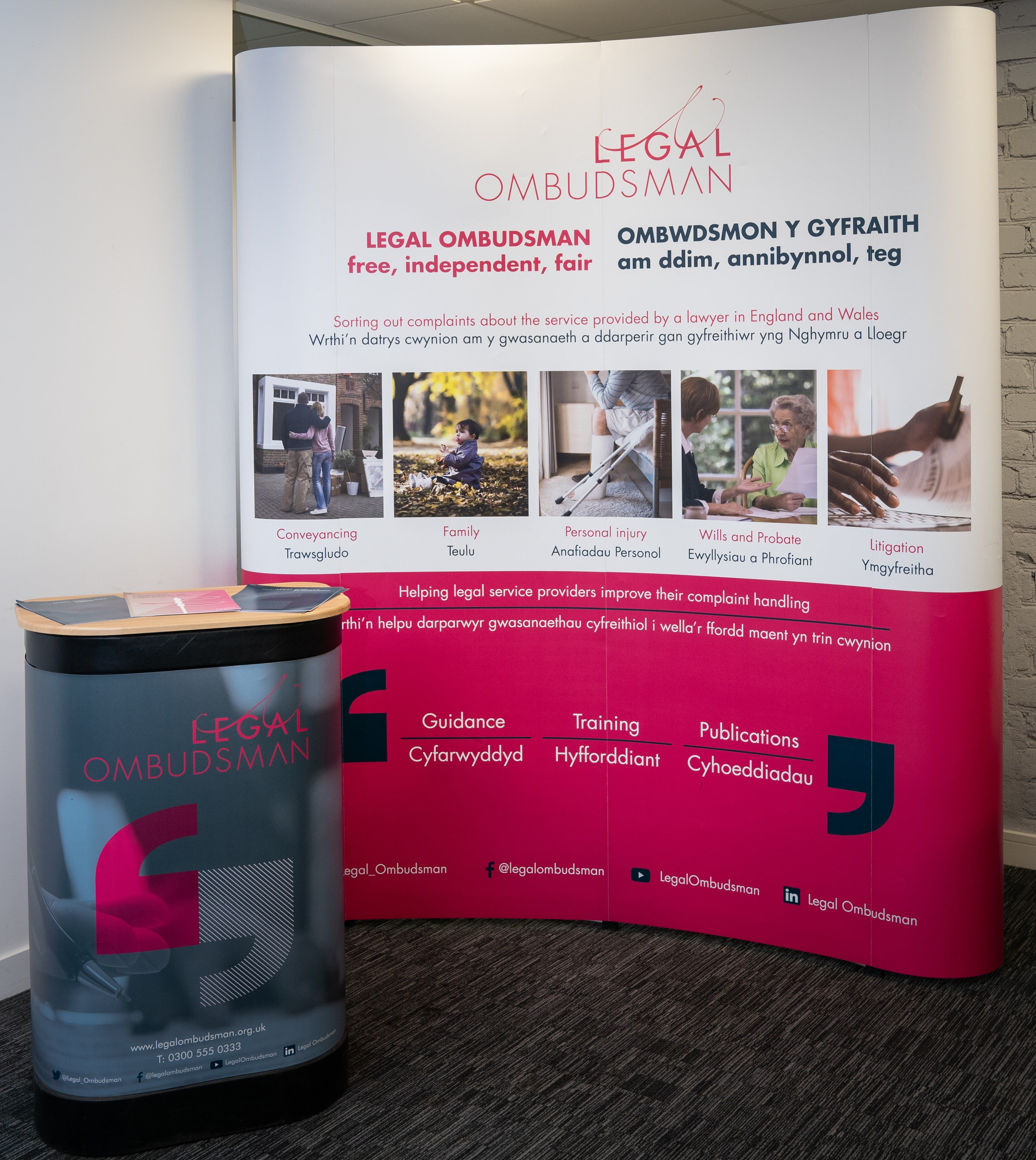 image of Legal Ombudsman's events stand