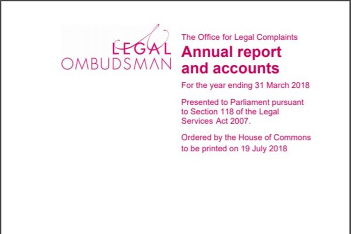 Legal Ombudsman 2017-18 Annual Report published