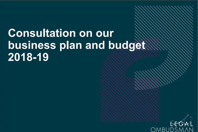 Consultation on our 2018-19 Business Plan and Budget