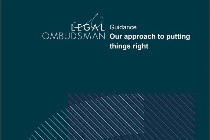 Guidance: Our approach to putting things right